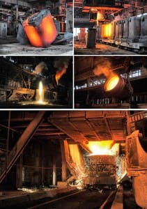 set of images of the metallurgical industry